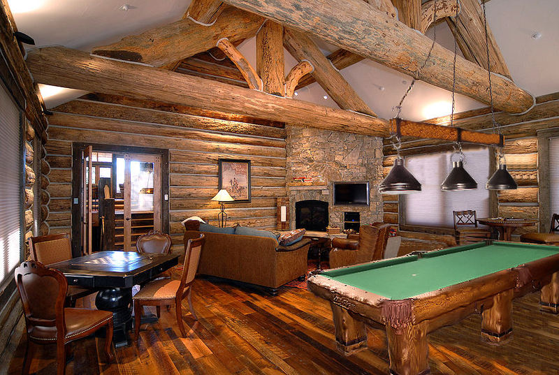 For Sale Rustic Log Pool Billiard Tables For Log Home Cabin Billings Furniture For Sale